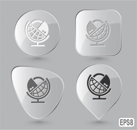 Globe and lock. Glass buttons. Stock Photo - 15708861