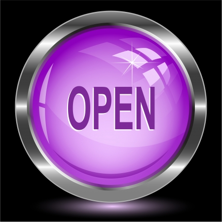unrestricted: Open. Internet button.