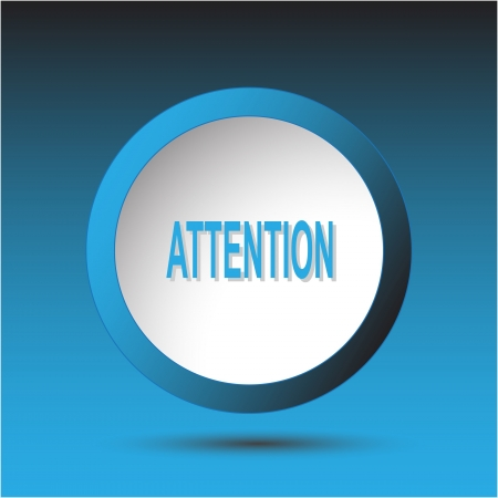 Attention. Plastic button.  Stock Photo - 15708824