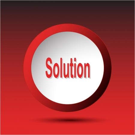 Solution. Plastic button.  Stock Photo - 15708789