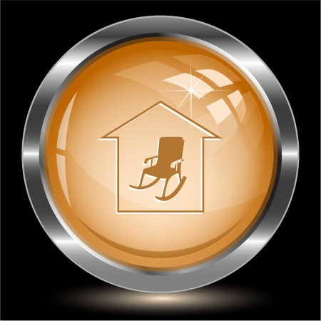 Home comfort. Internet button. Vector illustration. illustration
