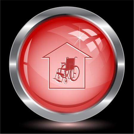 Nursing home. Internet button. Vector illustration. illustration