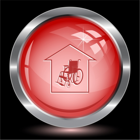 'nursing home': Nursing home. Internet button. Vector illustration. Stock Photo