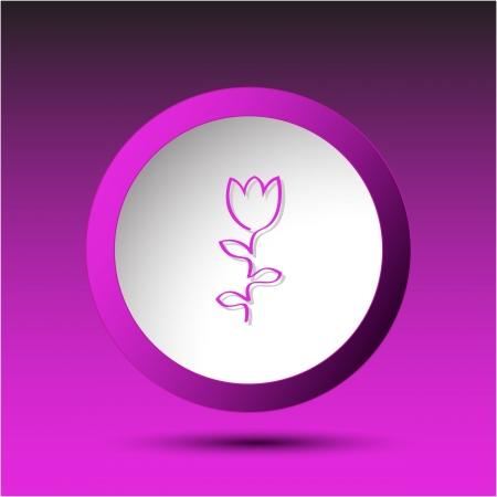 Abstract tulip. Plastic button. Vector illustration. Stock Illustration - 15724575