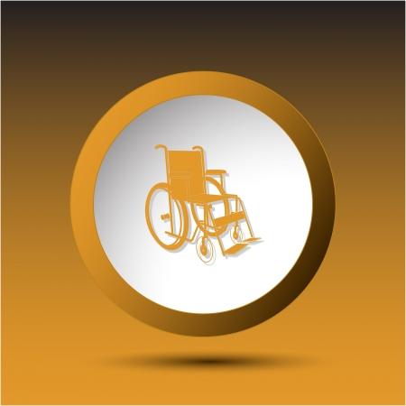 Invalid chair. Plastic button. Vector illustration. illustration