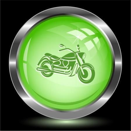 オートバイ。インター ネット ボタン。ベクトル イラスト。