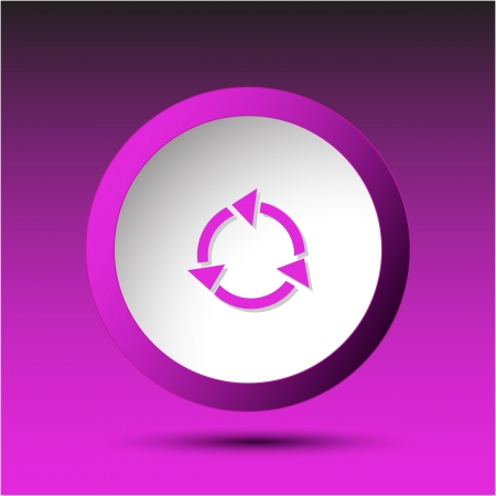 Recycle symbol. Plastic button. Vector illustration. Stock Illustration - 15758204
