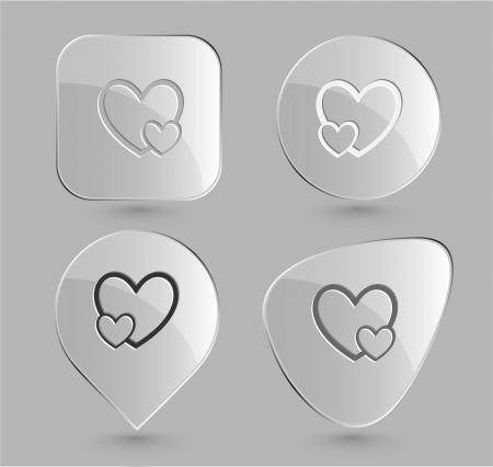 careful: Careful heart. Glass buttons