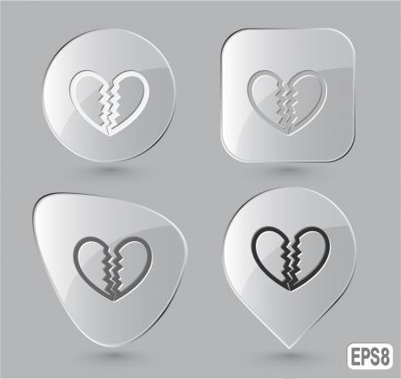 unrequited love: Amor no correspondido. Botones de cristal. Vector ilustraci�n. Foto de archivo