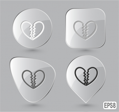 unrequited love: Unrequited love. Glass buttons. Vector illustration.