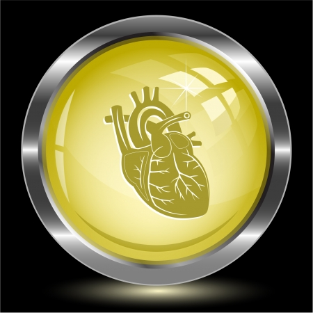 Heart. Internet button. Vector illustration. illustration