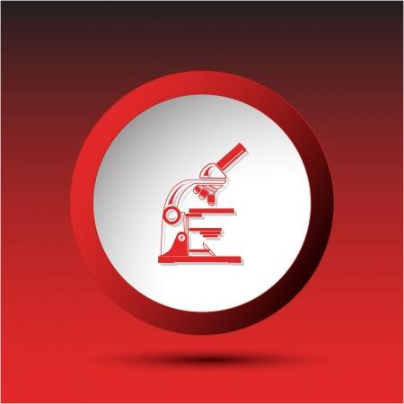 Lab microscope. Plastic button. Vector illustration. Stock Illustration - 15858043