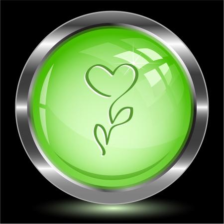 Flower-heart. Internet button. Vector illustration. Stock Illustration - 15914076