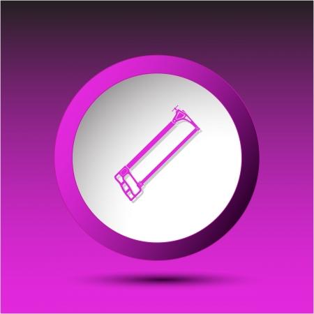 Hacksaw. Plastic button. illustration. Stock Illustration - 15914067