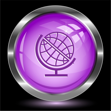 Globe. Internet button. Stock Photo - 15993039