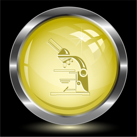 Lab microscope. Internet button Stock Photo - 15993061