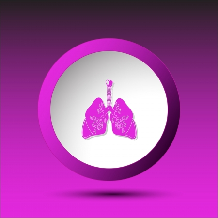 Lungs. Plastic button.  Stock Photo - 15992829