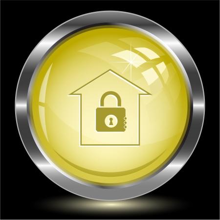 Bank. Internet button. Vector illustration. Stock Illustration - 16218895