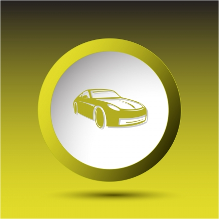 Car. Plastic button. Vector illustration. illustration