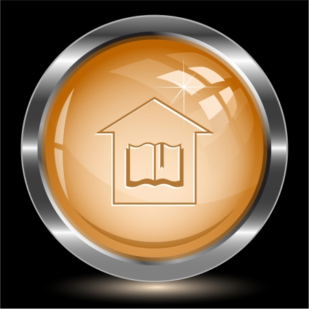 Library. Internet button. Stock Photo - 16805156