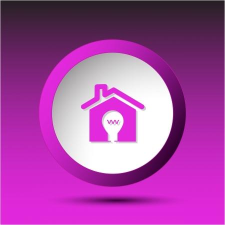 Light in home. Plastic button. Stock Photo - 16804676