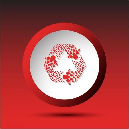 Recycle symbol. Plastic button. Stock Photo - 16804762