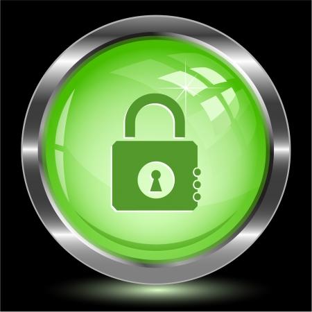 closed lock: Closed lock. Internet button.