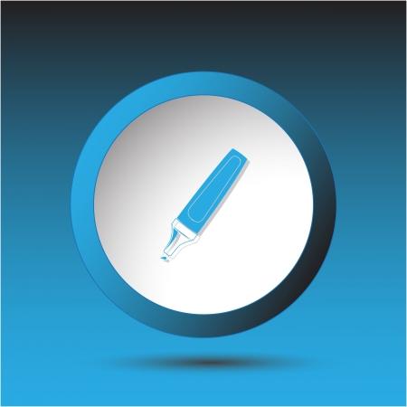 Felt pen. Plastic button.   Stock Photo - 17127639