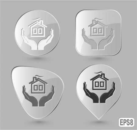 comfort in hands. Glass buttons. illustration. Stock Illustration - 17163691