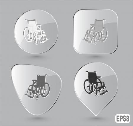 Invalid chair. Glass buttons. Vector illustration. illustration