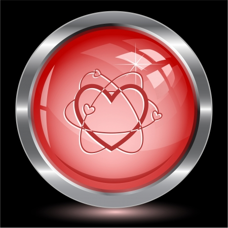 Atomic heart. Internet button. Vector illustration. illustration