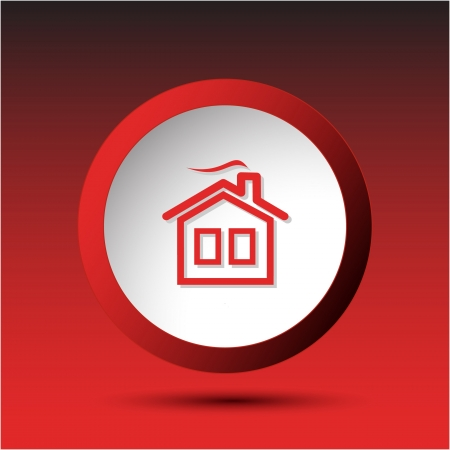 Home. Plastic button. Vector illustration. Stock Illustration - 17194384