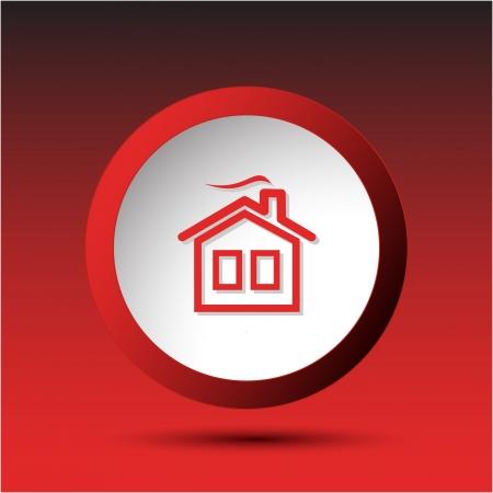 Home. Plastic button. Vector illustration. Stock Illustration - 17194384