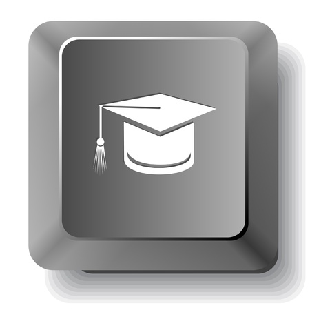 Graduation cap  computer key  photo