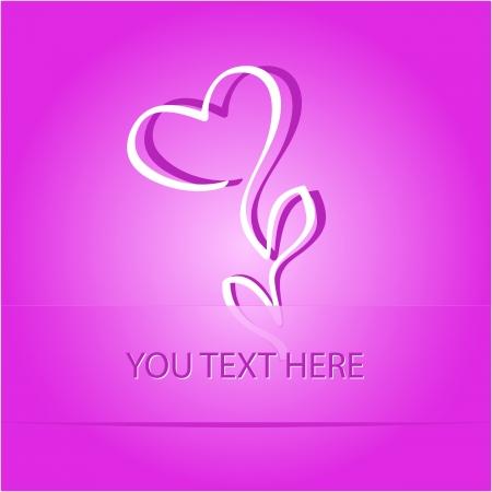 Flower-heart  Paper sticker as bookmark  Vector illustration  Eps10 Stock Illustration - 17194397