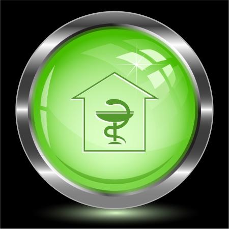 Pharmacy. Internet button. Vector illustration. Stock Illustration - 17216334