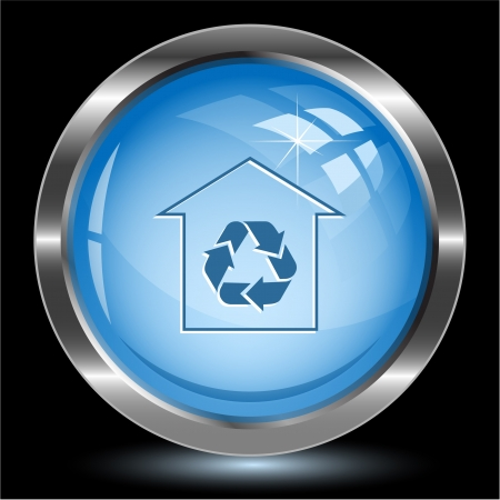 Protection of nature. Internet button. Vector illustration. Stock Illustration - 17216372