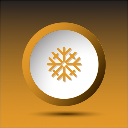 Snowflake. Plastic button. Vector illustration. illustration