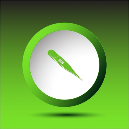 Thermometer. Shows 36.6 degrees Celsius. Plastic button. Vector illustration. Stock Illustration - 17216261