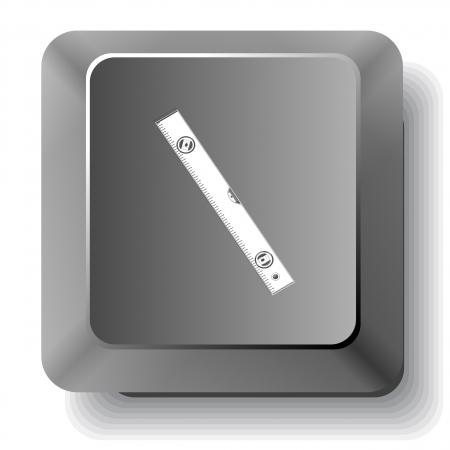 spirit level: Spirit level. Vector computer key.