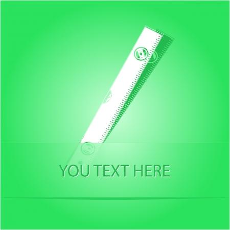 spirit level: Spirit level. Paper sticker as bookmark. Vector illustration. Stock Photo