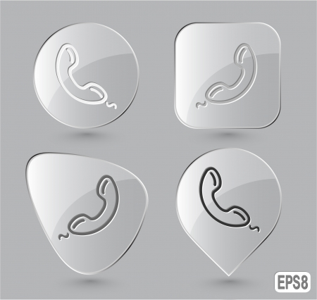 Handset. Glass buttons.  illustration. Stock Photo