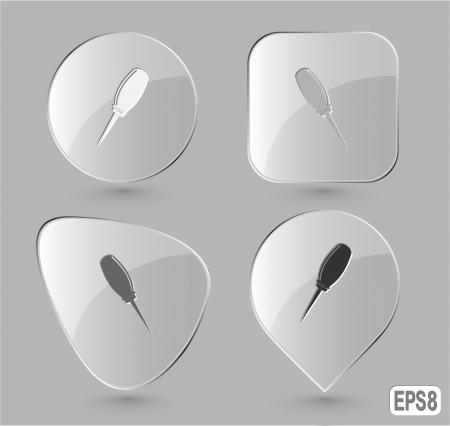 awl: Awl. Glass buttons.  illustration.
