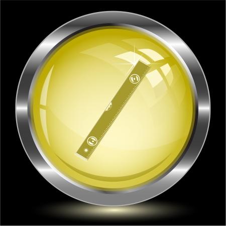 spirit level: Spirit level. Internet button.  illustration. Stock Photo