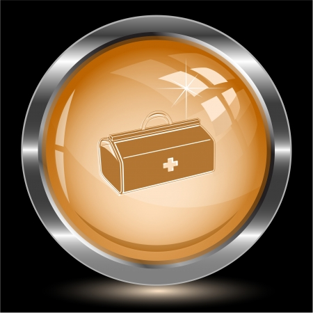 Medical suitcase. Internet button.  illustration. illustration