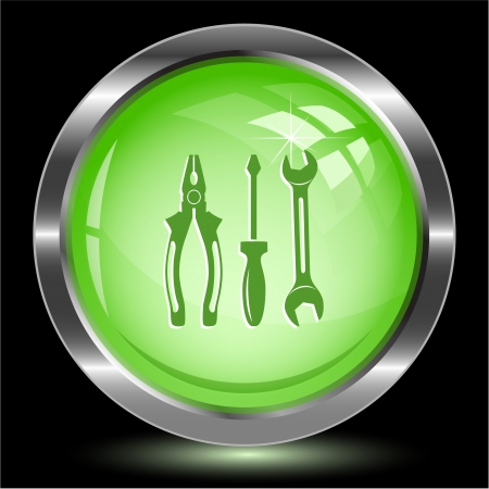 Tools. Internet button.  illustration. Stock Illustration - 17240303