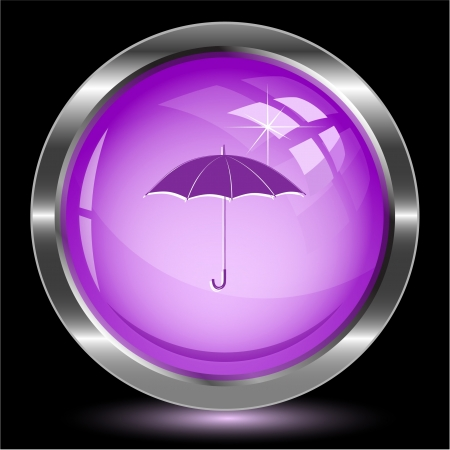Umbrella. Internet button. Vector illustration. illustration