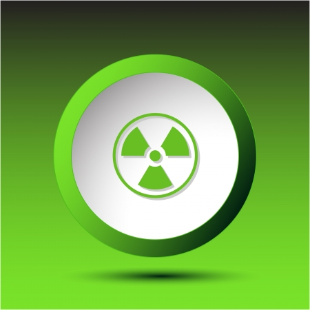 Radiation symbol. Plastic button.  illustration. Stock Illustration - 17240246
