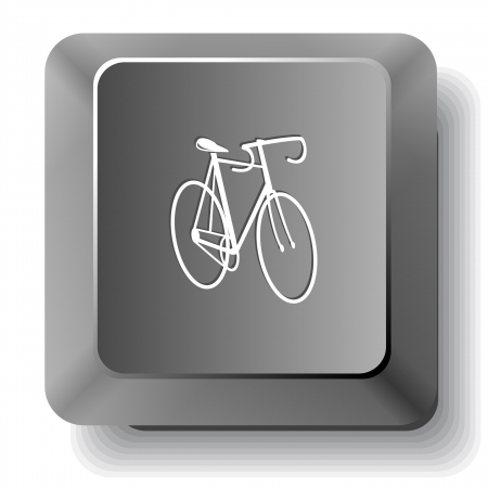 Bicycle.  computer key. photo