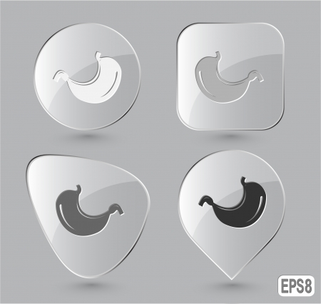 Stomach. Glass buttons.  illustration. Stock Illustration - 17335693